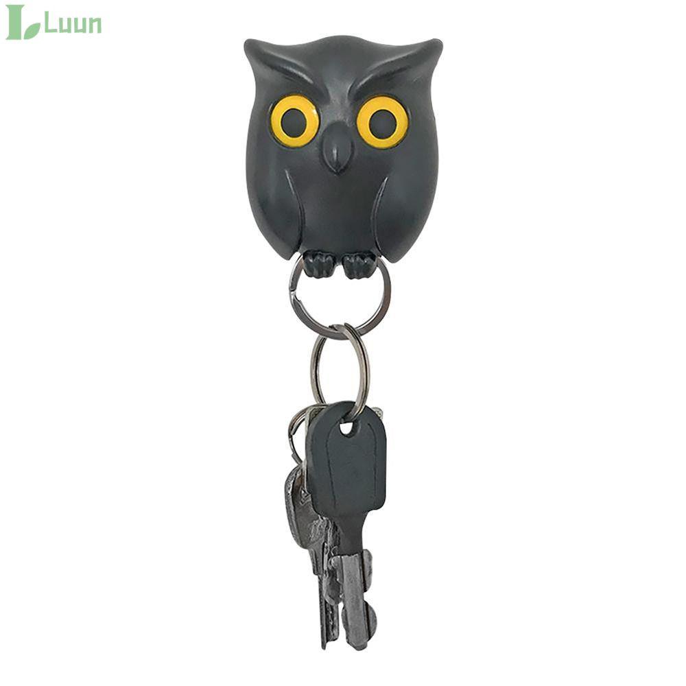1pcs Black Night Owl Wall Key Holder Magnets Keep Keychains Key Hanger Hook Hanging Key It Will Open Eyes Luun Shopee Singapore