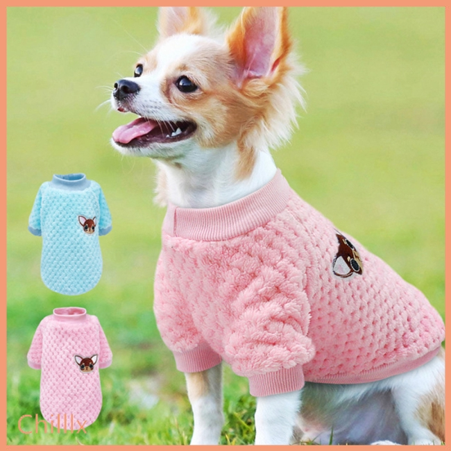 Cute Winter Dog Sweatshirt Casual Pajamas Jacket Coat for Small Dogs  Chihuahua Pug Puppy Clothes