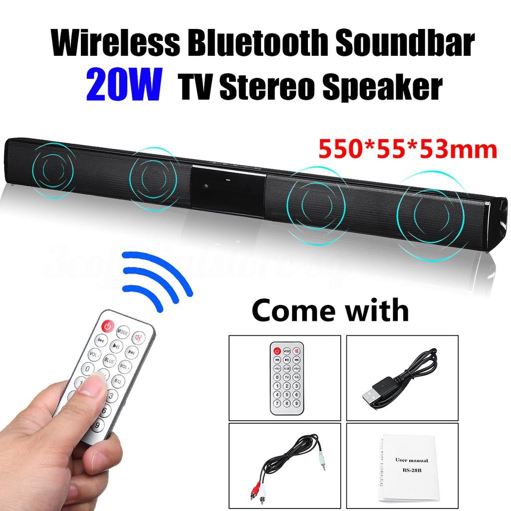 🔥HOT🔥Wireless Bluetooth Soundbar TV Stereo Speaker Subwoofer Sound Bar
