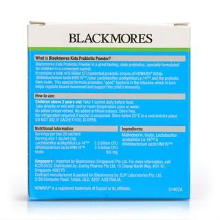 Blackmores Kids Probiotics Powder 1gx20 Shopee Singapore