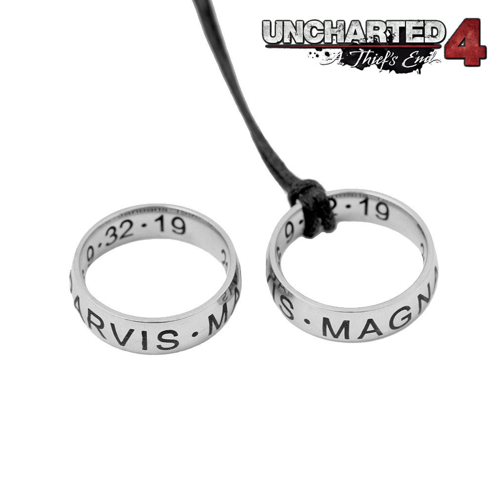 Game Uncharted 4 A Thief S End Nathan Drake S Ring Cord Strap Pendant Necklace