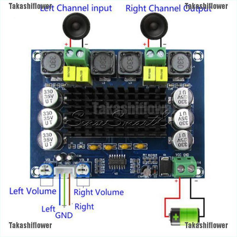100Wx2 Digital Amplifier Audio Power Board Module Dual Channel DC 12-24V TPA3116