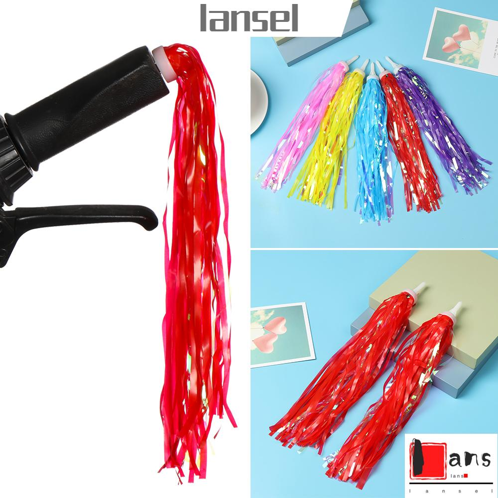 2pcs Cycling Accessories Kids Girls Boys Colorful Streamers Tassel Scooter Parts Bike Bicycle Decoration Tricycle Handlebar Tassels