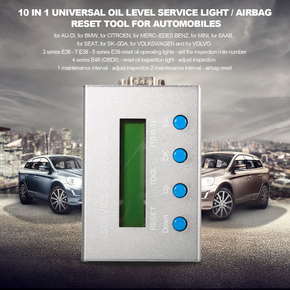 🌺10 in 1 Universal Oil Level Service Light / Airbag Reset