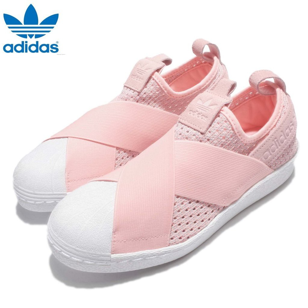 classic fit 264b3 e2017 Adidas New Women s Originals Superstar BW3S Slip-On Shoes BY9138 Icey Pink    Shopee Singapore