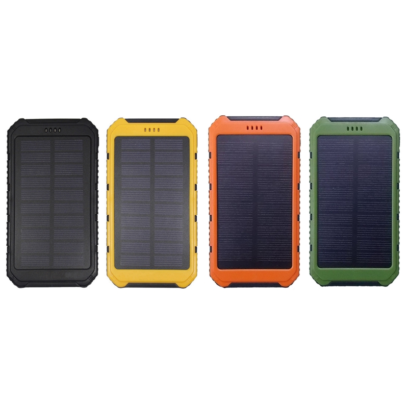 2*706090 Solar Power Bank Case Portable External Battery Charger For Smart Phone Battery 2*606090 no Battery not Included