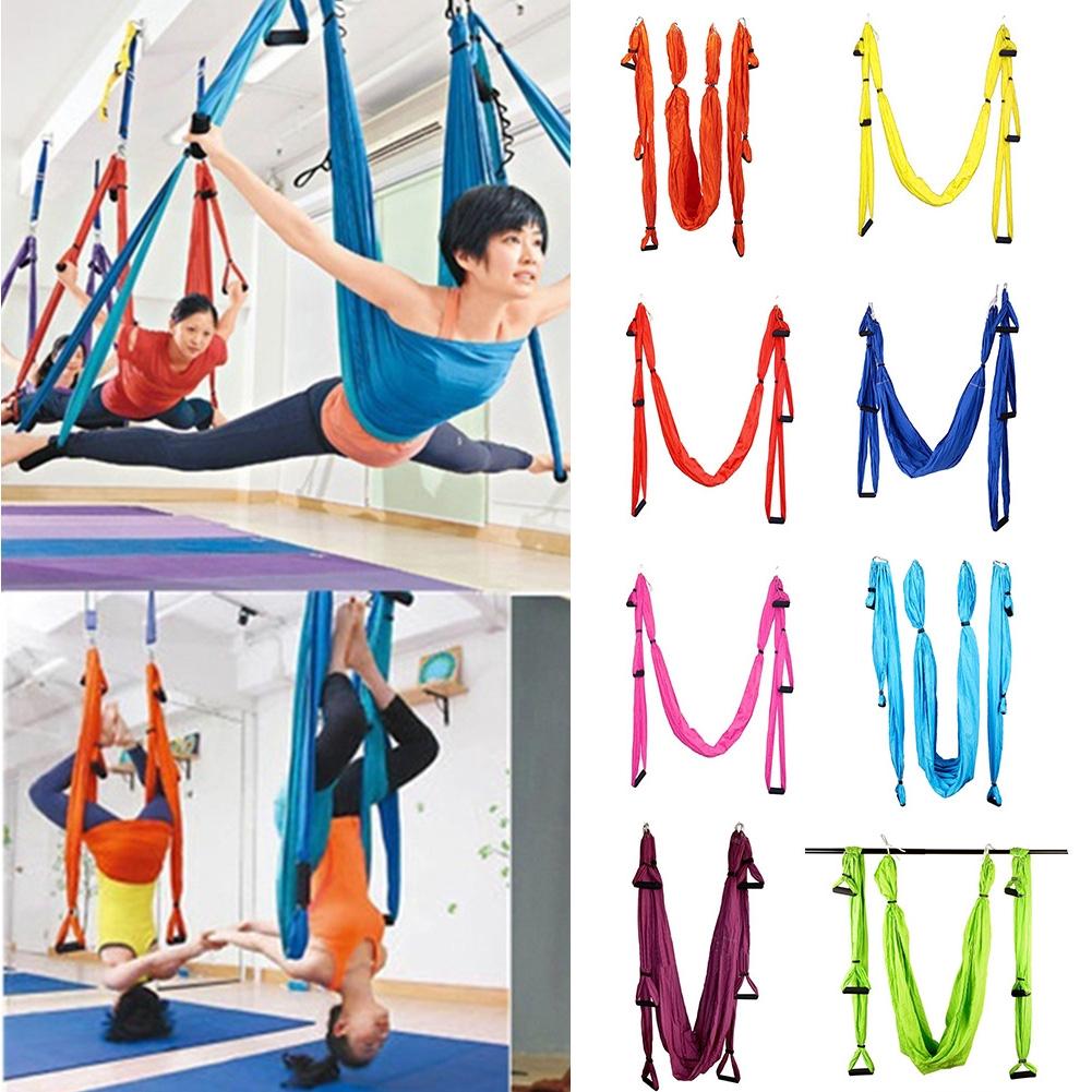 Yoga 1.5x2.5m Yoga Inverted Tool Anti-gravity Hammock Swing Fabric Swing Fitness & Body Building