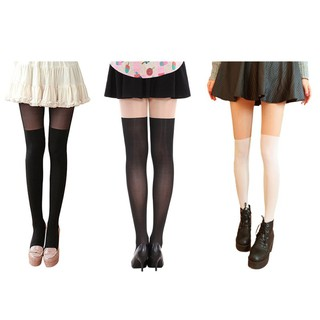 e7b4146c790 Women Sexy Stitching Knee-high Stockings Girls Leggings Tights Stocking
