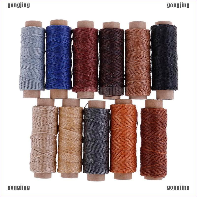 Leather Sewing Round Waxed Thread Cord DIY Handcrafts Stitching Tool 0.45 MM 160 M//Roll White Black Brown Black