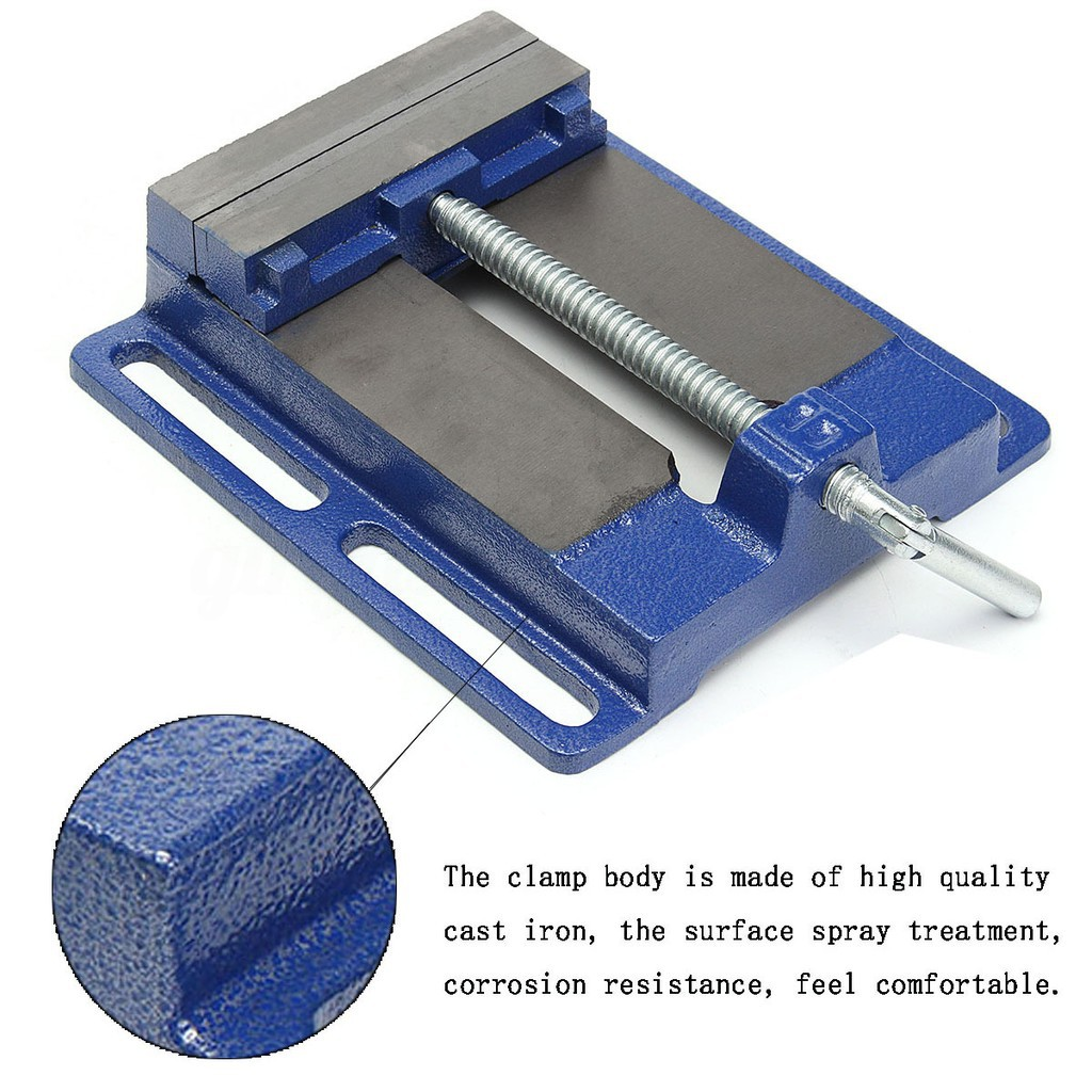 """6/"""" Drill Press Vise Pipe Clamping Holding 5-1//2/"""" Throat Open Workbench Drill HD"""