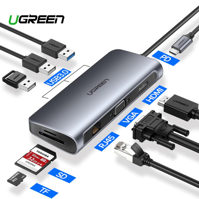 Ugreen USB C to USB 3.0 HUB 4 Ports Type C 3.1 Splitter PD Charge for Samsung S9