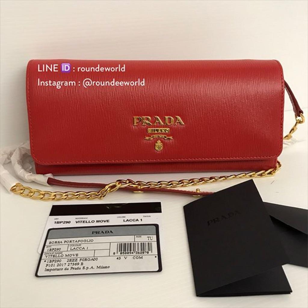 b7e78e50f1ce Prada Vitello Move Wallet Bag 1BP290 - Lacca