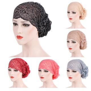 00aab290dd0 TOPL❤❤Women Lace Muslim Ruffle Cancer Chemo Hat Beanie Scarf Turban Head  Wrap