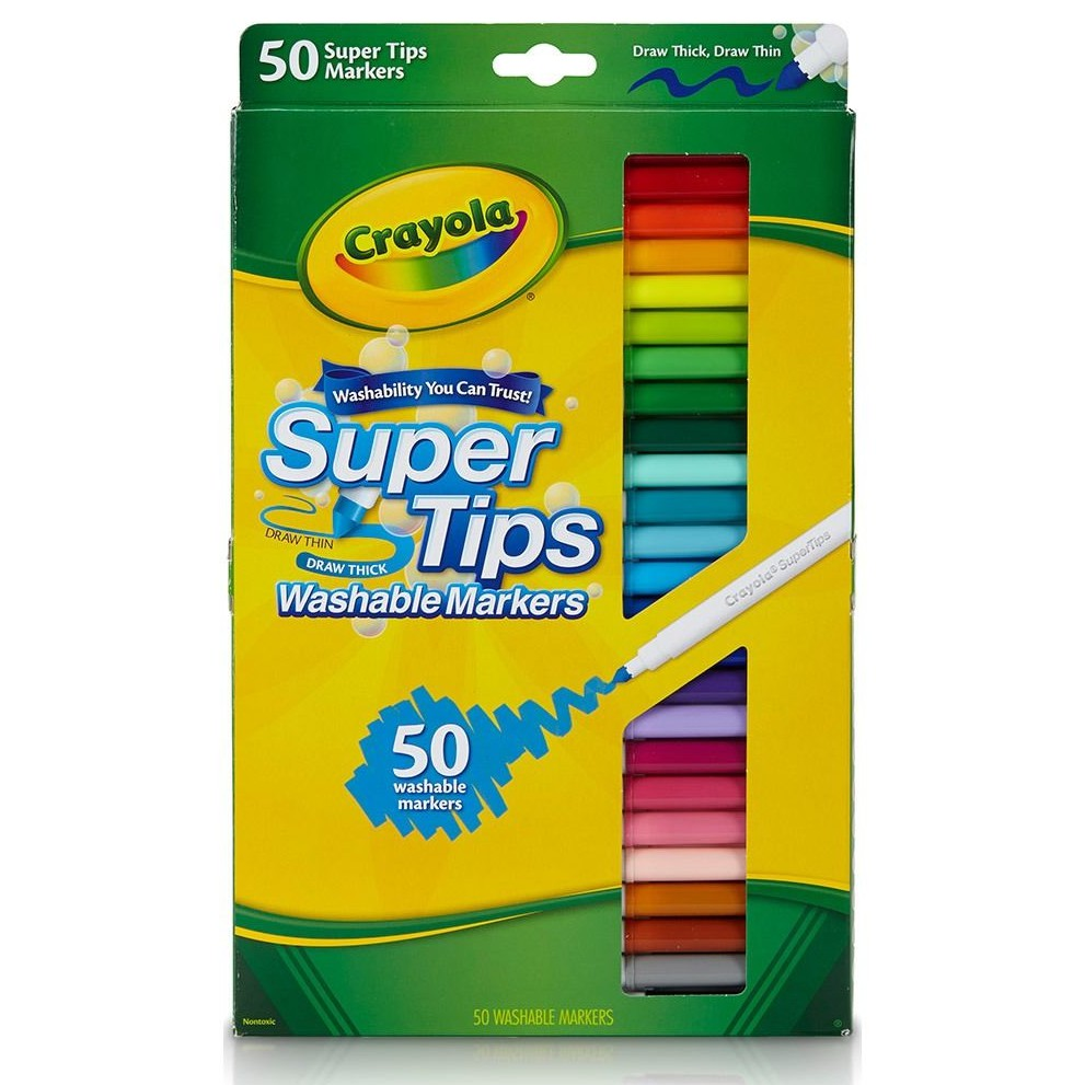 crayola 50 super tips washable markers 585050 shopee singapore