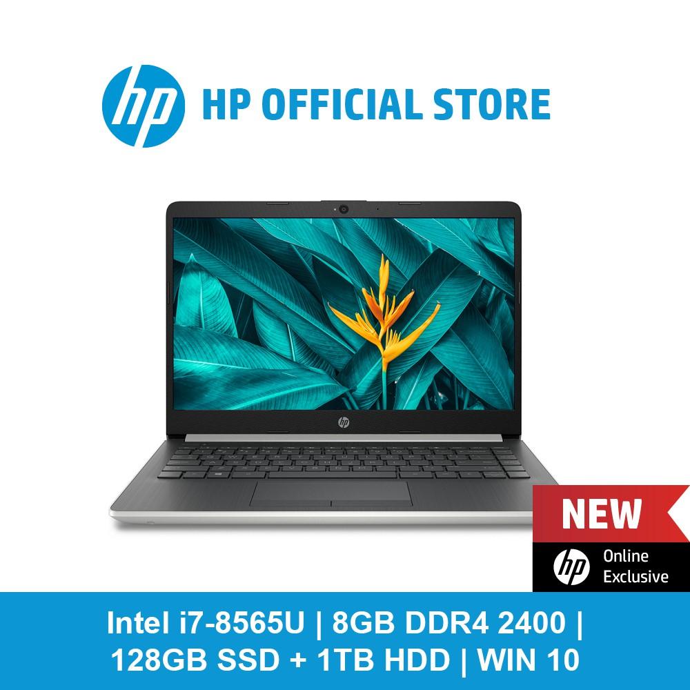 HP Notebook - 14s-cf1065tx/ Intel® Core™ i7 8565U/ 8 GB memory/ 1 TB HDD  storage/ 128 GB SSD storage/ Win 10