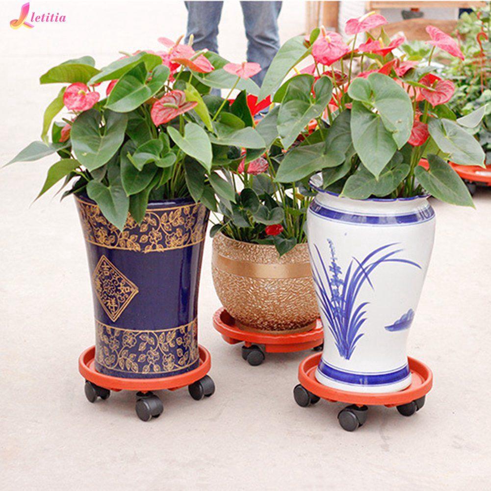 Resin Tray Mobile Non Slip Flower Pot