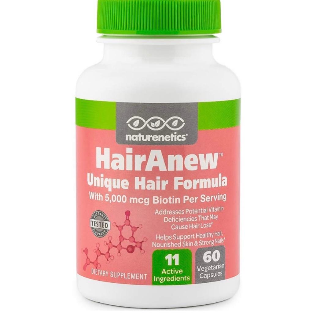 Hair Growth Vitamins >> Naturenetics Hairanew Unique Hair Growth Vitamins With Biotin Women Men