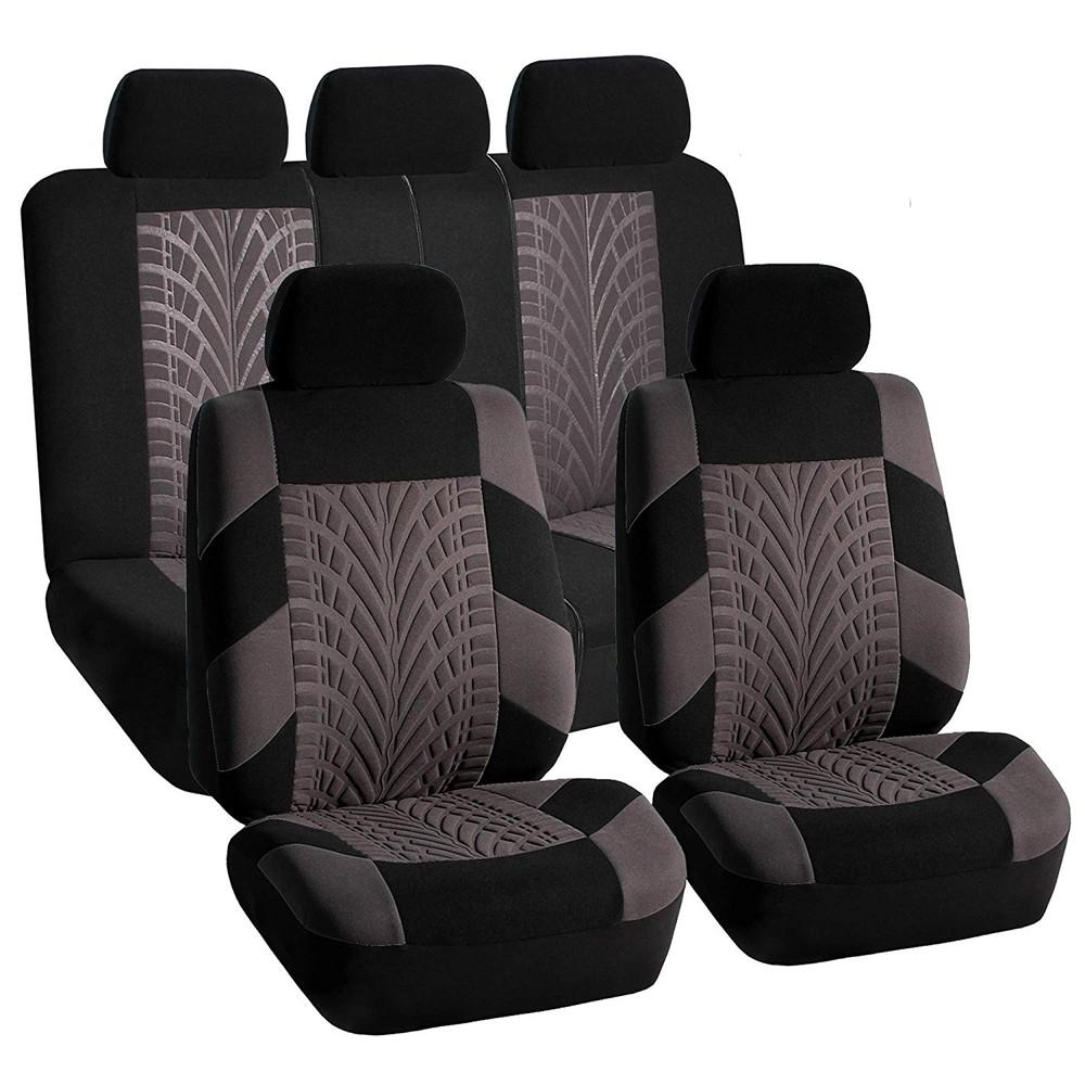 10pcs Dust Resistant Black Mesh Cloth Car Seat Covers W//Headrest Covers For Kia