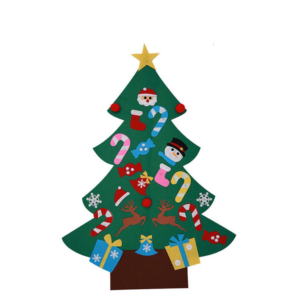 Christmas Tree Toys Handmade.Nl Felt Cloth Diy Christmas Tree Window Decor Kids Toys