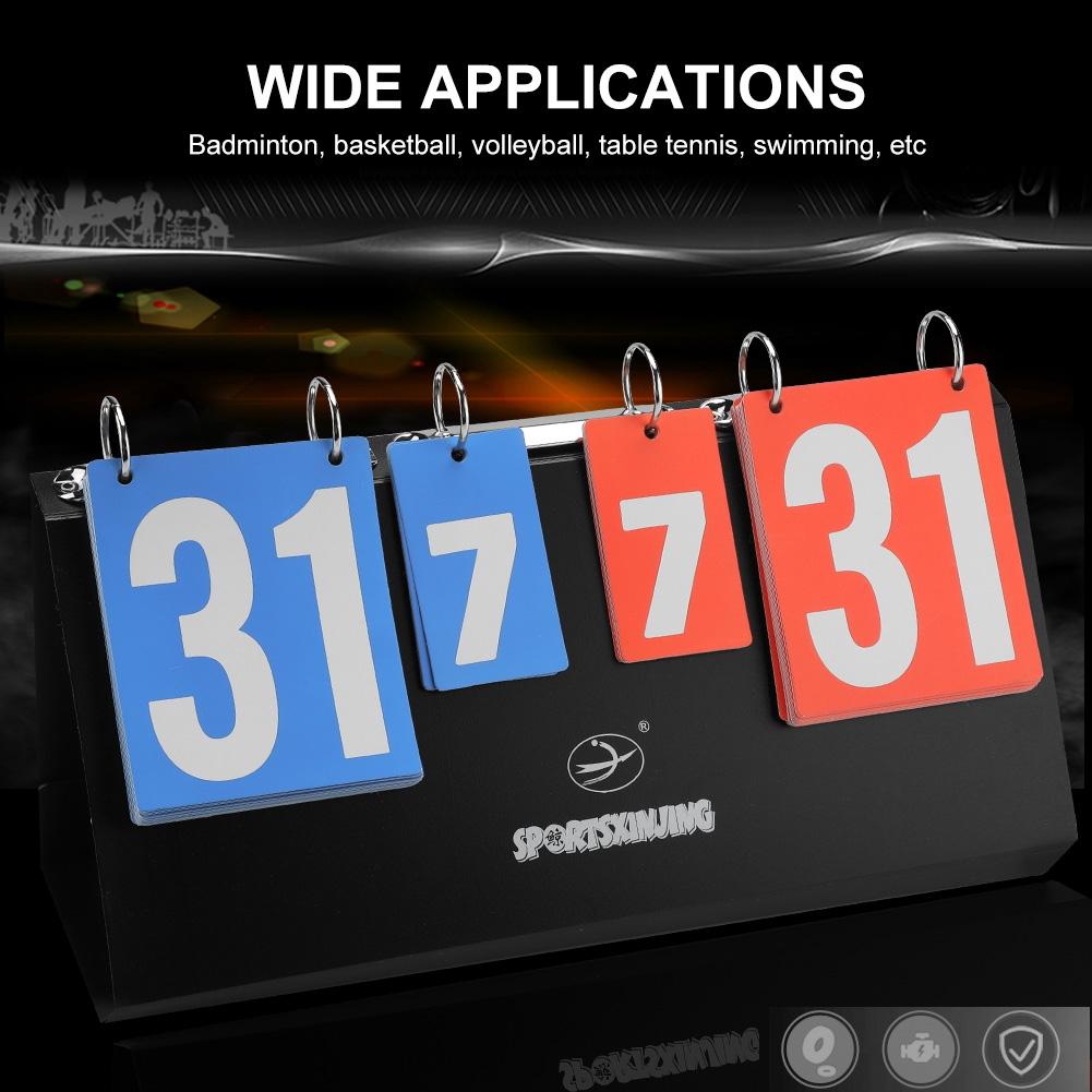 4-Digit Sports Competition Score Board Scoreboard for Table Tennis Basketball Badminton OKBY Scoreboard
