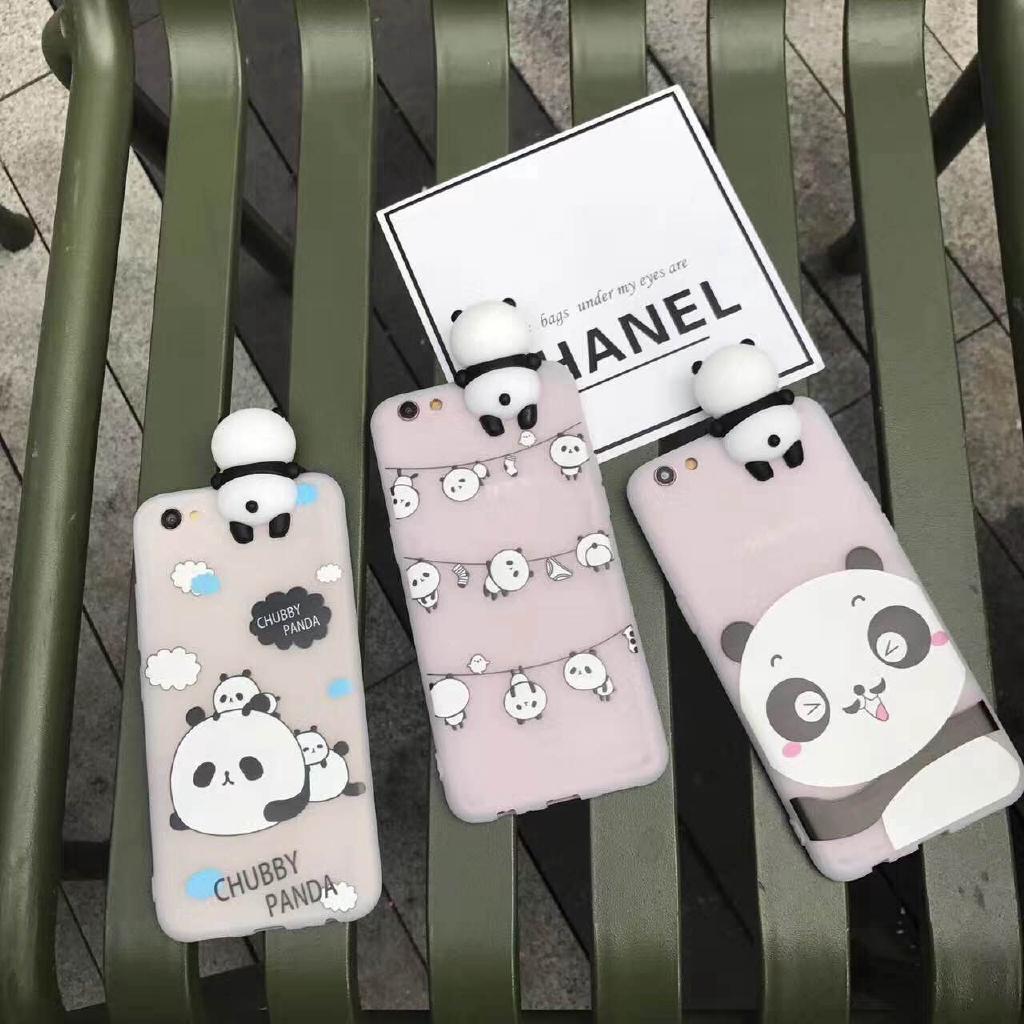 Oppo R11 R11s Plus Casing 3D Lovely Panda Case Cover