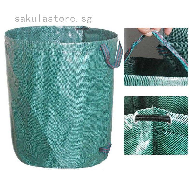 STAR SUPPLIES 5 x Heavy Duty Large Green 120L Garden Waste Bags Garden & Outdoors Compost & Yard Waste Refuse Sacks with Handles