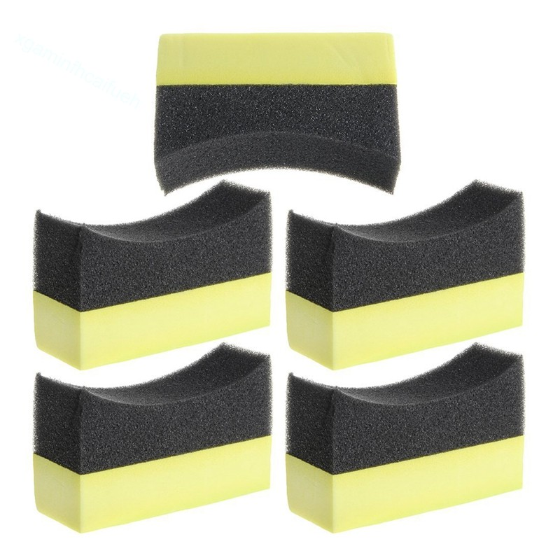 Quality Professional Tyre Dress Applicator Curved Pads For Wheel Restoration