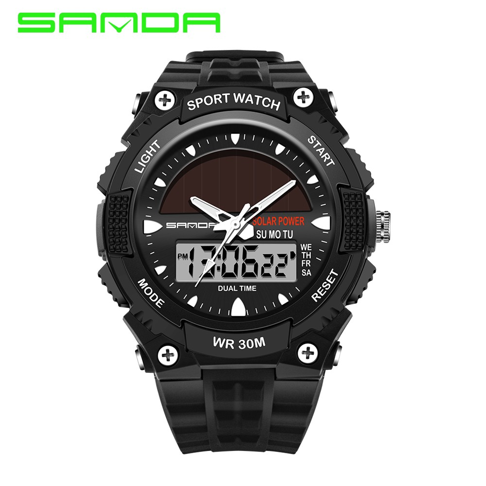 c4a06d07cf3 Sports Watches Men Silicone Sport Watch Shockproof Electronic Wristwatches