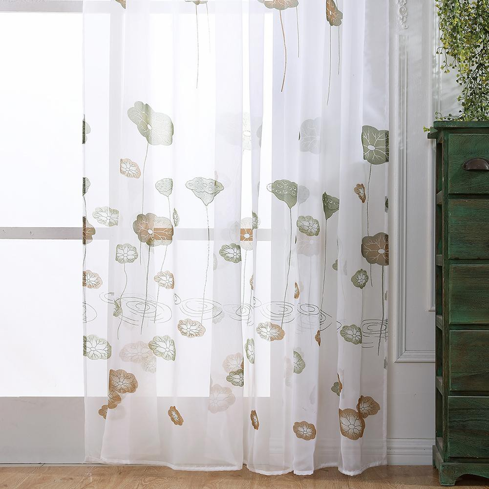 Willow Branch Print Sheer Voile Tulle