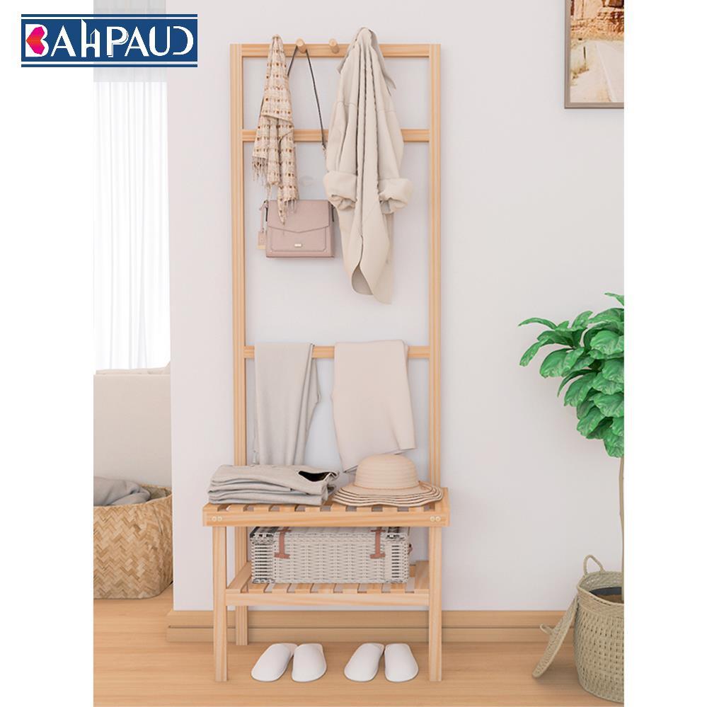 Coat Rack Floor Clothes Hanger Small Simple Solid Wood Floor Home Bedroom Room Bag Hanging Rack Storage Rack Simple 25x58 5x158cm Shopee Singapore