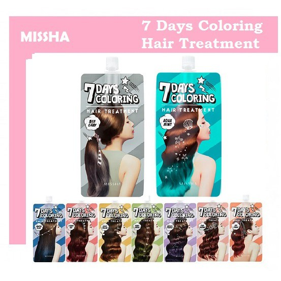Instock Missha 7 Days Coloring Hair Treatment Hair Dye 25ml