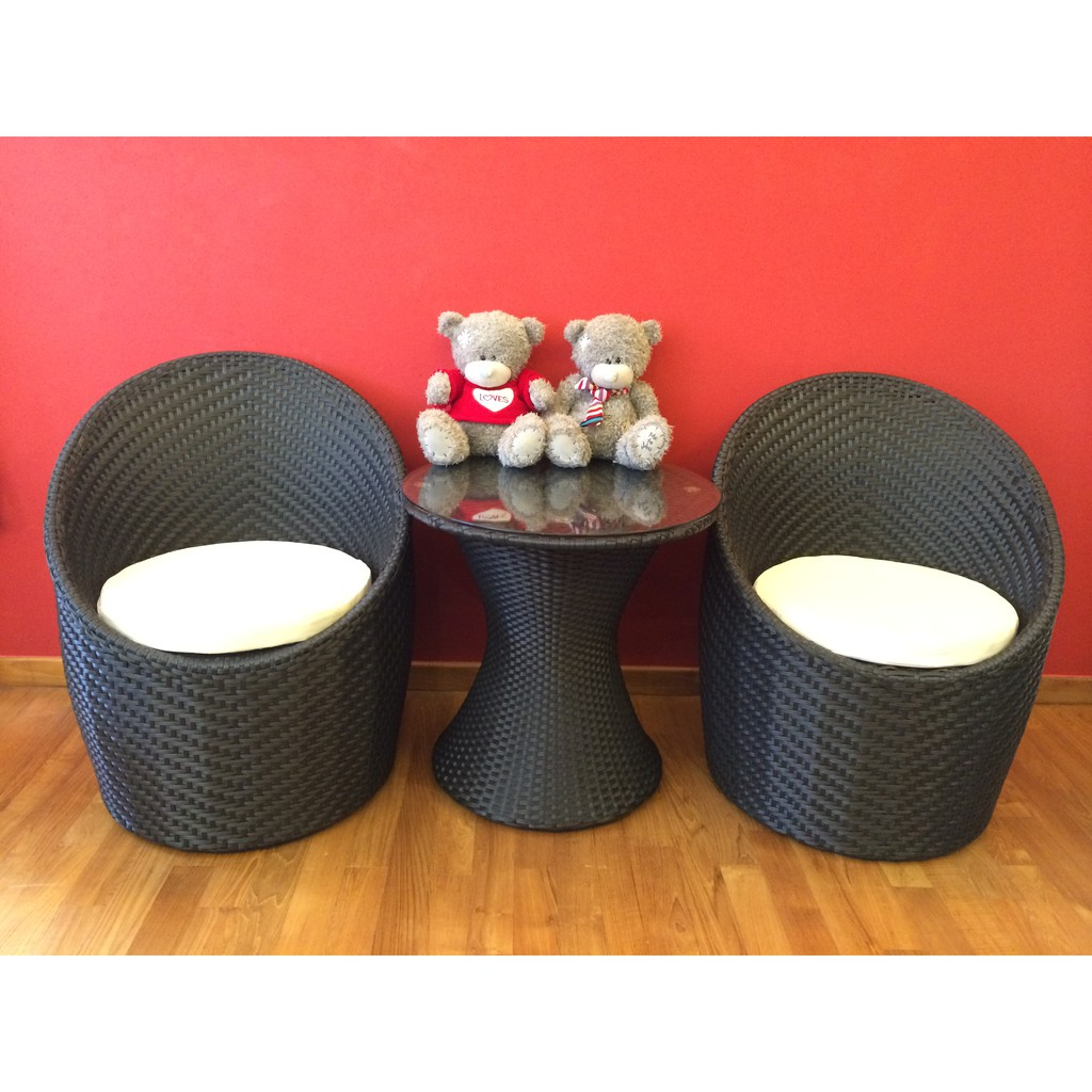 Bali Lounge Outdoor Furniture Rattan Table Chair Free Delivery Shopee Singapore