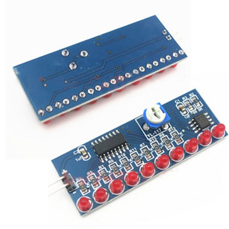 Ne555 Cd4017 Running Led Flow Light Electronic Production Suite Control Board Diy Kit Module Capacitor Oscillator Clock Siganal Attractive Designs; Integrated Circuits Active Components