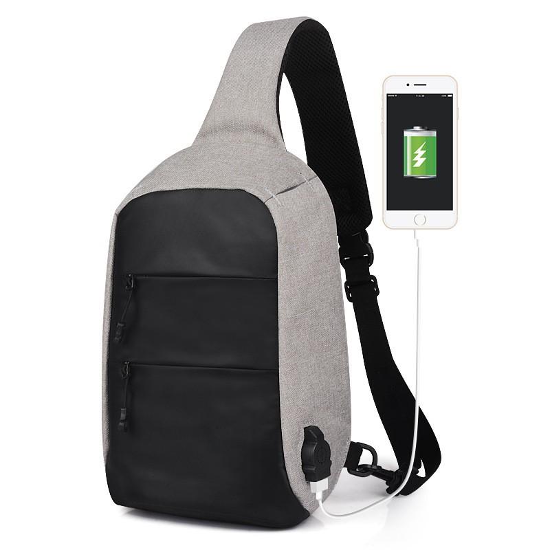 Anti Theft USB Charging Waterproof Sling Chest Waist Bag  44bfeccbdcaf