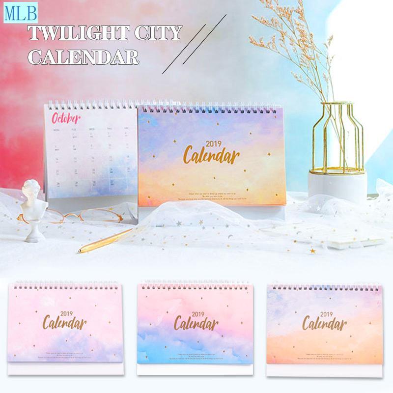 Folding Calendar Desk Calendar Multifunctional Paper 2019 DIY