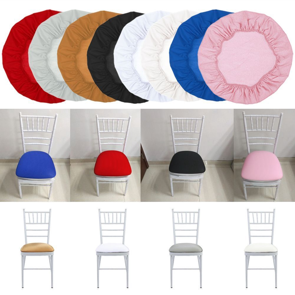 Washable Elastic Stretch Slipcovers Short Office Dining Room Chair Seat Cover
