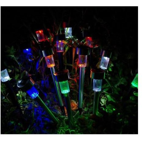 Garden Solar Lamp Night Lamp Charge Light Solar Lamp Rechargeable Light Colorful Night Lamp Lampu Taman Warna Warni Shopee Singapore