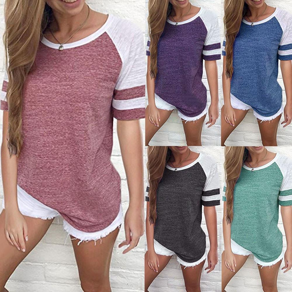 S-5XL Women Maternity Plus Long Sleeve Tops Nursing Splice Blouse Splice T Shirt