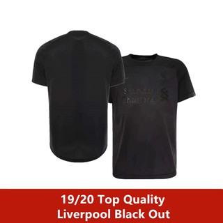 more photos 5b4d9 a0a79 Liverpool Limited Edition 'Black Out' 2019/20 Football Shirt Jersey
