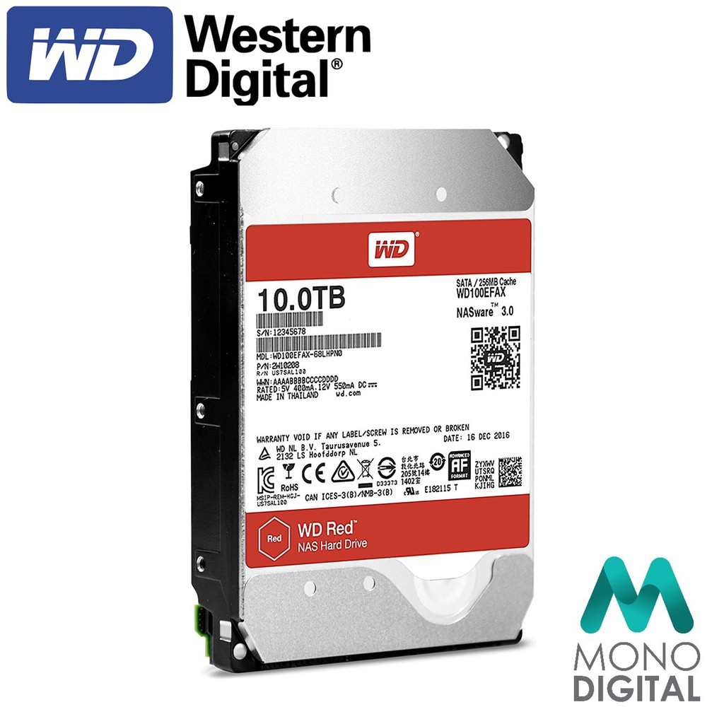 Western Digital Red 10tb Wd Network Attached Storage Nas 256mb Sata Iii Wd101efax Shopee Singapore