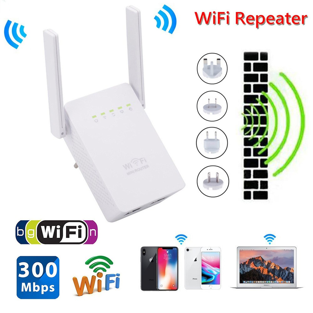 Antenna Wireless Range Extender Network Router WiFi Repeater for Home Office