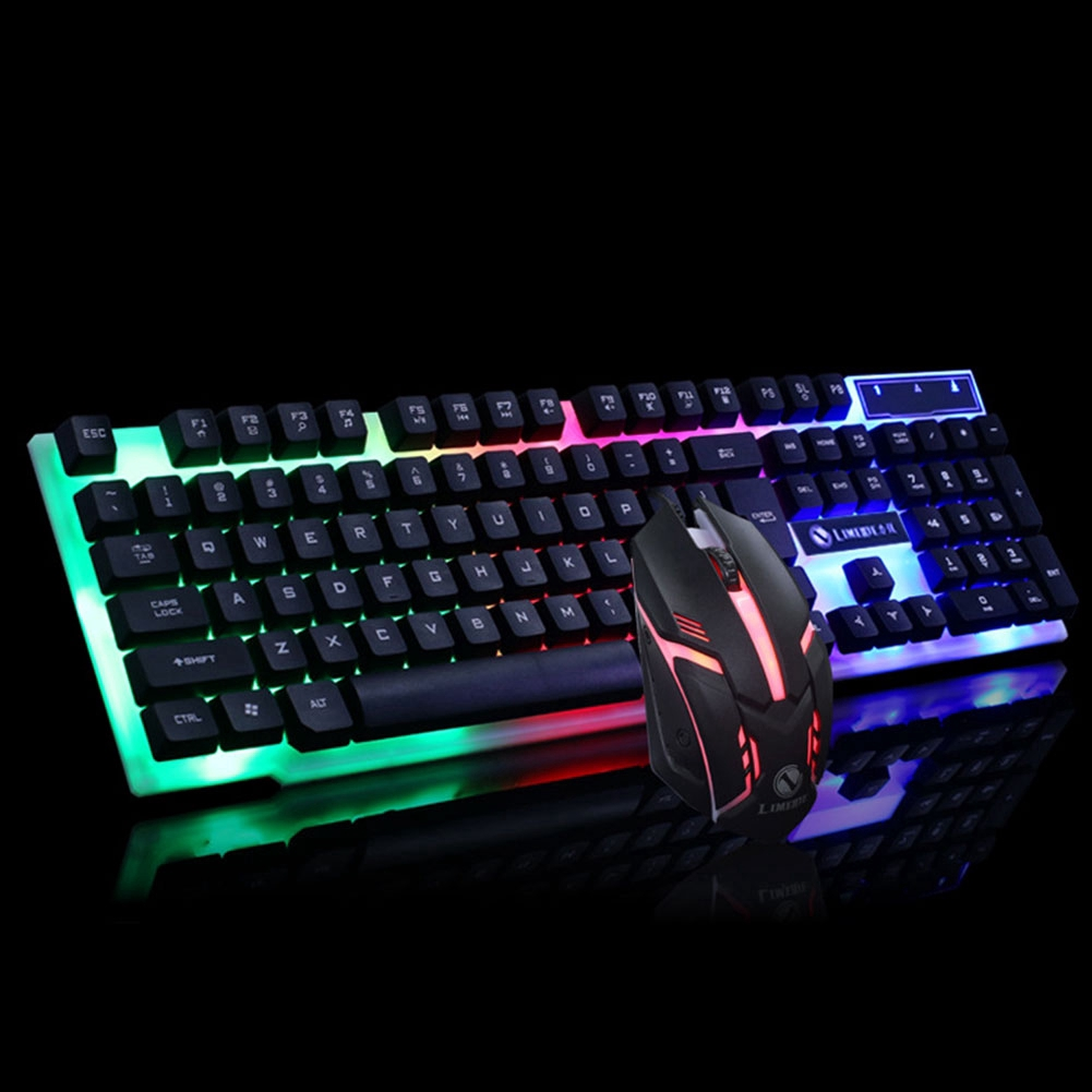 Office Ergonomic USB Gaming Home Keyboard Mouse Set