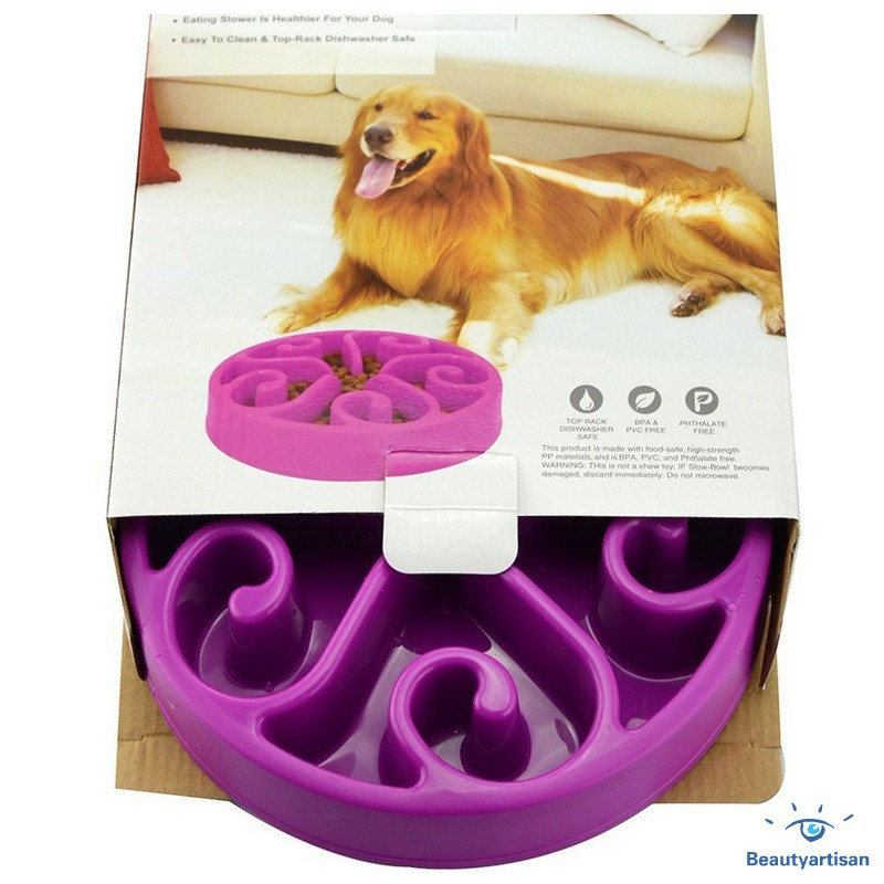 Pet Products Non-slip Digestion Eco-friendly Dogs Cat Interactive Puppy Pet Bowl Dish Anti-choke Slow Feeder Food Adjustable Felt Cloth Home & Garden