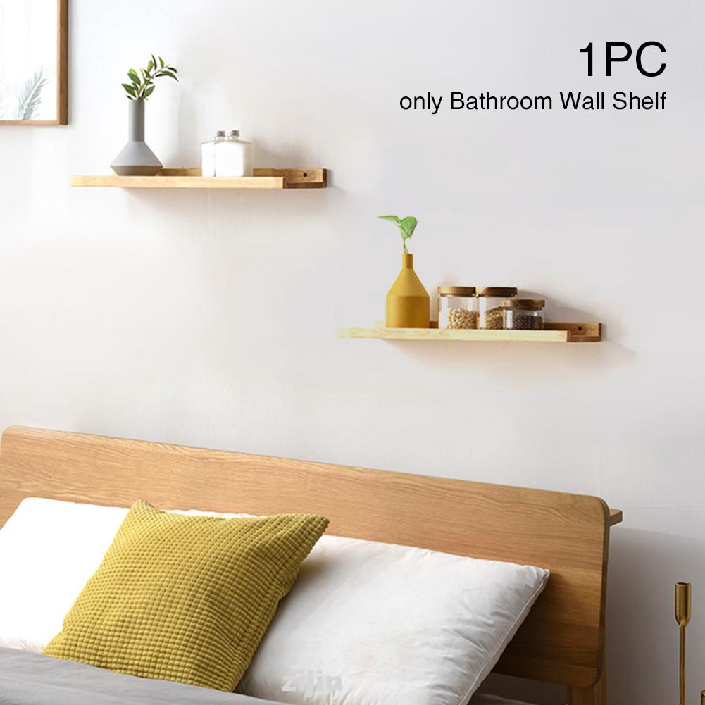 Multifunction Floating Home Decor Kitchen Display Bathroom Organizer Book Figurines Storage Wood Wall Shelf Shopee Singapore
