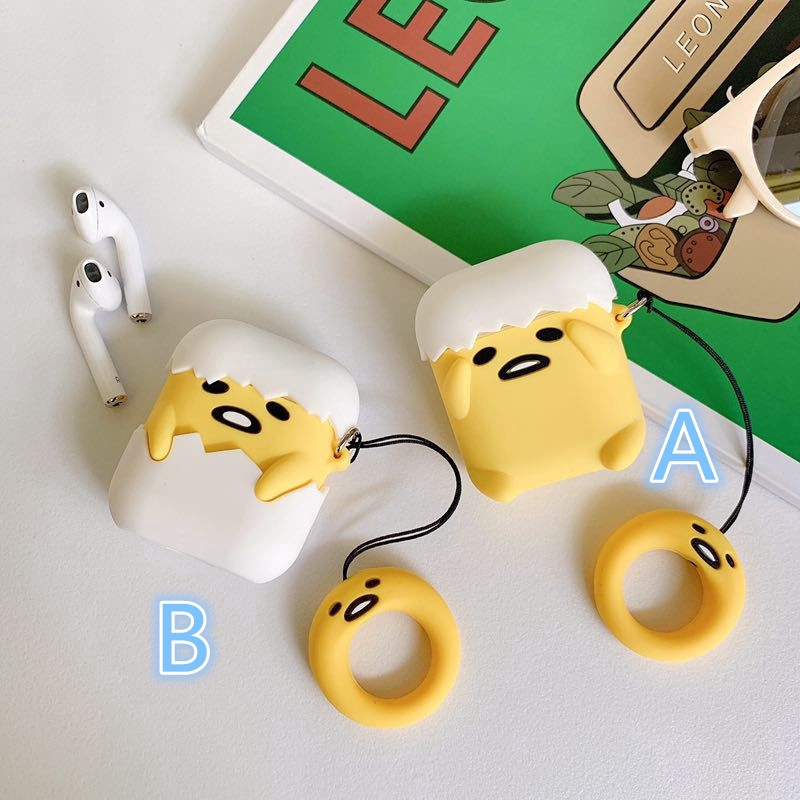 bc40461c223dc Japanese Anime Cute Gudetama Airpods1 2 Case Cute Cartoon AirPods Silicone  Cover