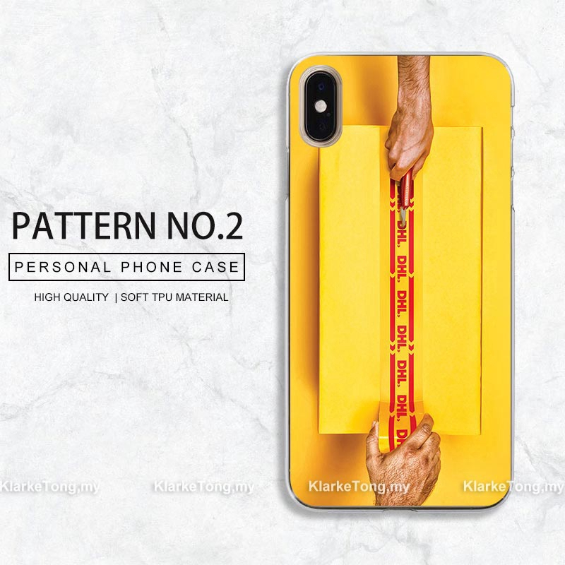 Custom Design DHL Brand Pattern Phone Cover Case For iPhone XS MAX XR 8 7 6  6s Plus 5s SE Soft Silicone Casing