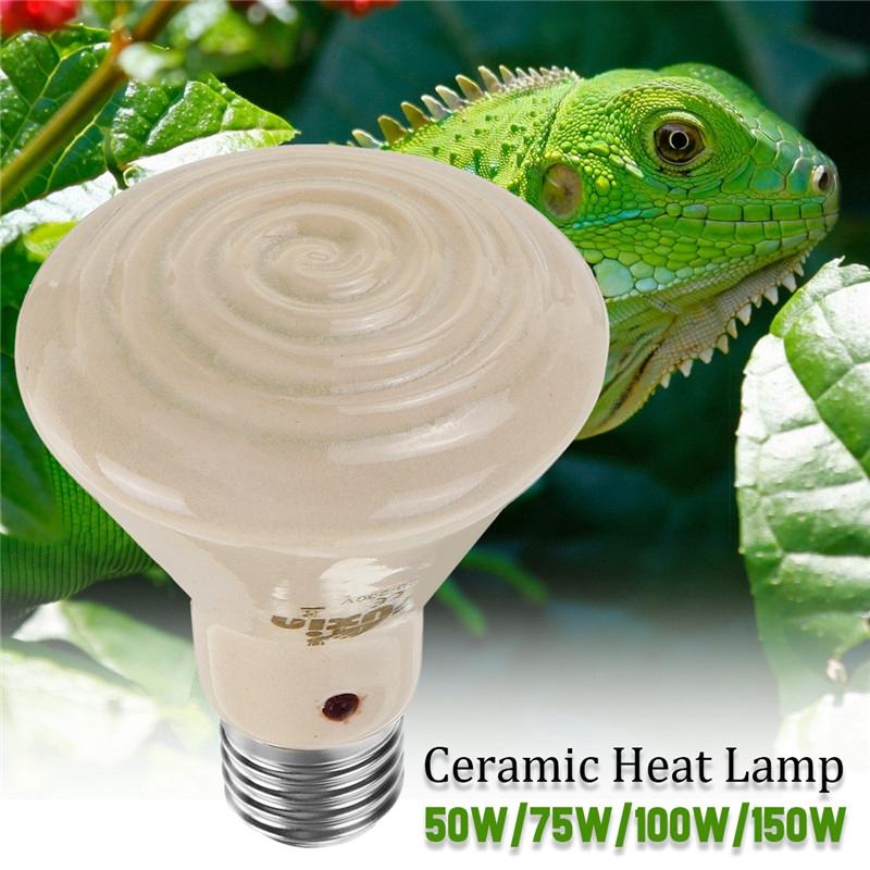 50/100/150W Infrared Ceramic Emitter Pet Heat Heater Lamp Reptile Light E27  Bulb
