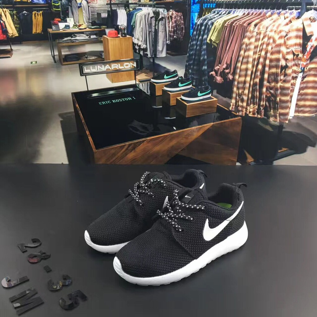outlet store f475f bb1f9 ... hot bschildrens shoes nike roshe run light running shoes kasut sneakers  size 28 35 shopee singapore