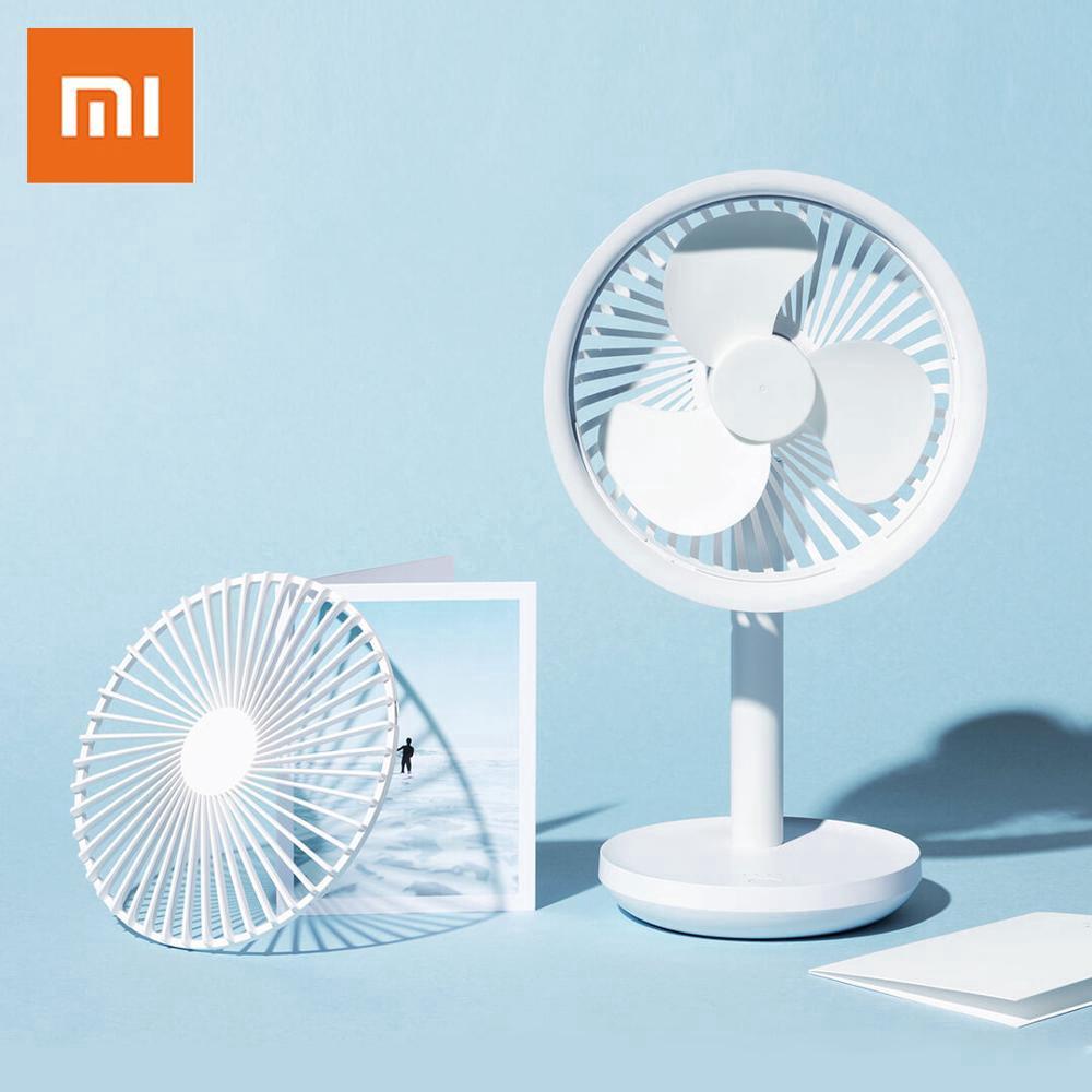 Color : Dark Blue Air Cooler Table Mute Clip Fan USB Charging 360 Degrees Rotating Big Wind Desktop Fan Brushless Motor Summer Fan