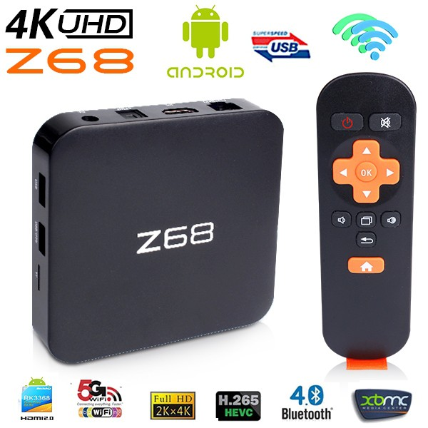 Z68 Rk3368 Octa Core 5 1 Lollipop Android TV BOX Game Player with 2G 16G HD  Wifi